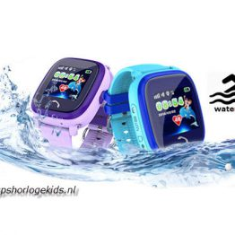 gps tracker horloge kind telefoon sos waterdicht waterproof junior aqua