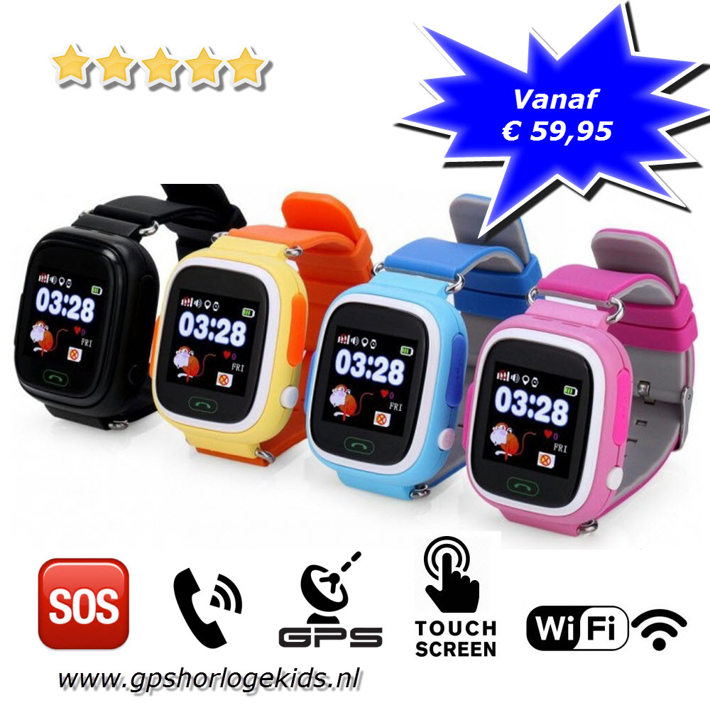 gps horloge junior wifi telefoon tracker sos uiterst. Black Bedroom Furniture Sets. Home Design Ideas