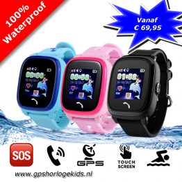 gps tracker horloge junior aqua wifi telefoon sos waterdicht waterproof