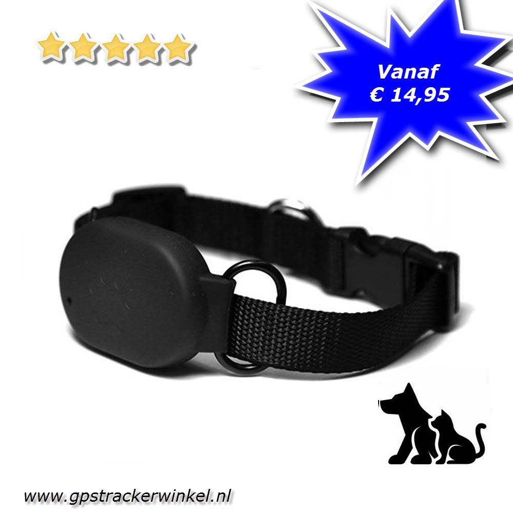 halsband gps tracker mini huisdier voor uw hond kat poes. Black Bedroom Furniture Sets. Home Design Ideas