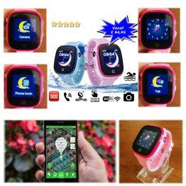 GPS horloge Junior aqua camera wifi telefoon sos waterdicht waterproof persoonlijk alarm